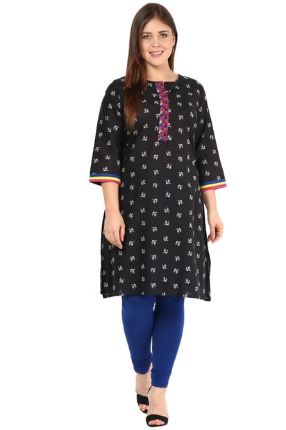 f7a6d99d765bb1 Alto Moda by Pantaloons Plus Size, Pantaloons Black Kurta for Women ...