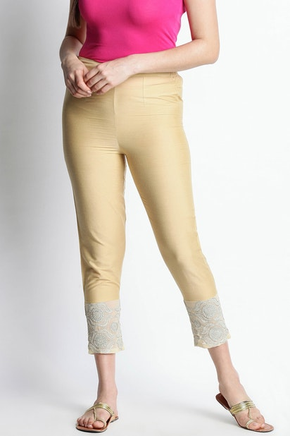 f67827be2 Trishaa by Pantaloons Trousers & Leggings, Pantaloons Gold Pants ...