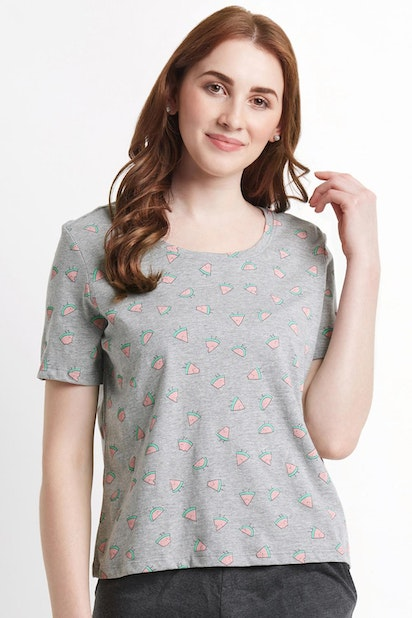 3b86a9e044a268 Dreamz by Pantaloons Tees & Tops, Pantaloons Grey T Shirt for Women ...