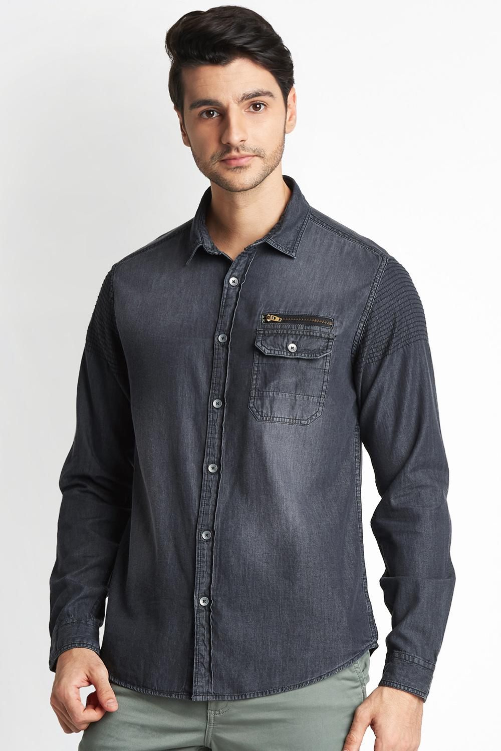 ec1a1acc8d1 Bare Denim by Pantaloons Shirts