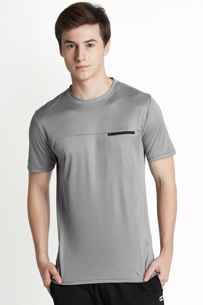 d36ee02e Ajile by Pantaloons T-Shirts, Pantaloons Grey T Shirt for Men at ...