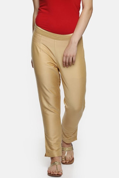 a92d09609e980 Rangmanch by Pantaloons Trousers & Leggings, Pantaloons Gold ...