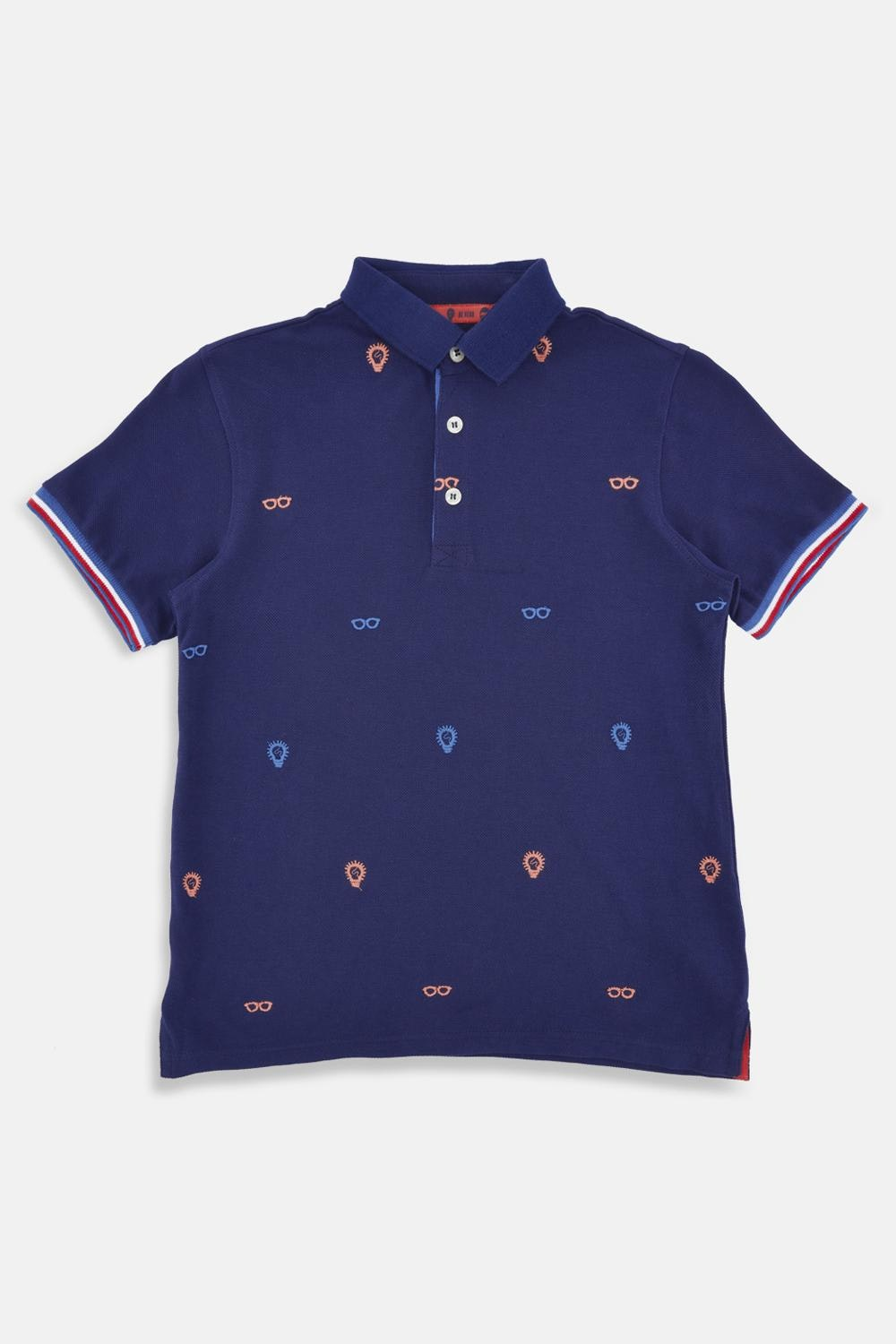 Poppers Embroidered Polo Shirt