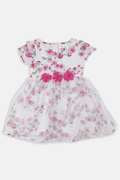 a3ef38cce949c Baby Girl Floral Tulle Dress