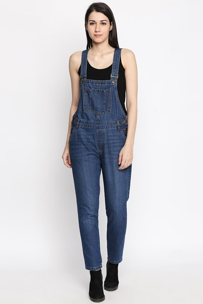 Sf Jeans Jumpsuits Pantaloons Blue Dungarees For Women