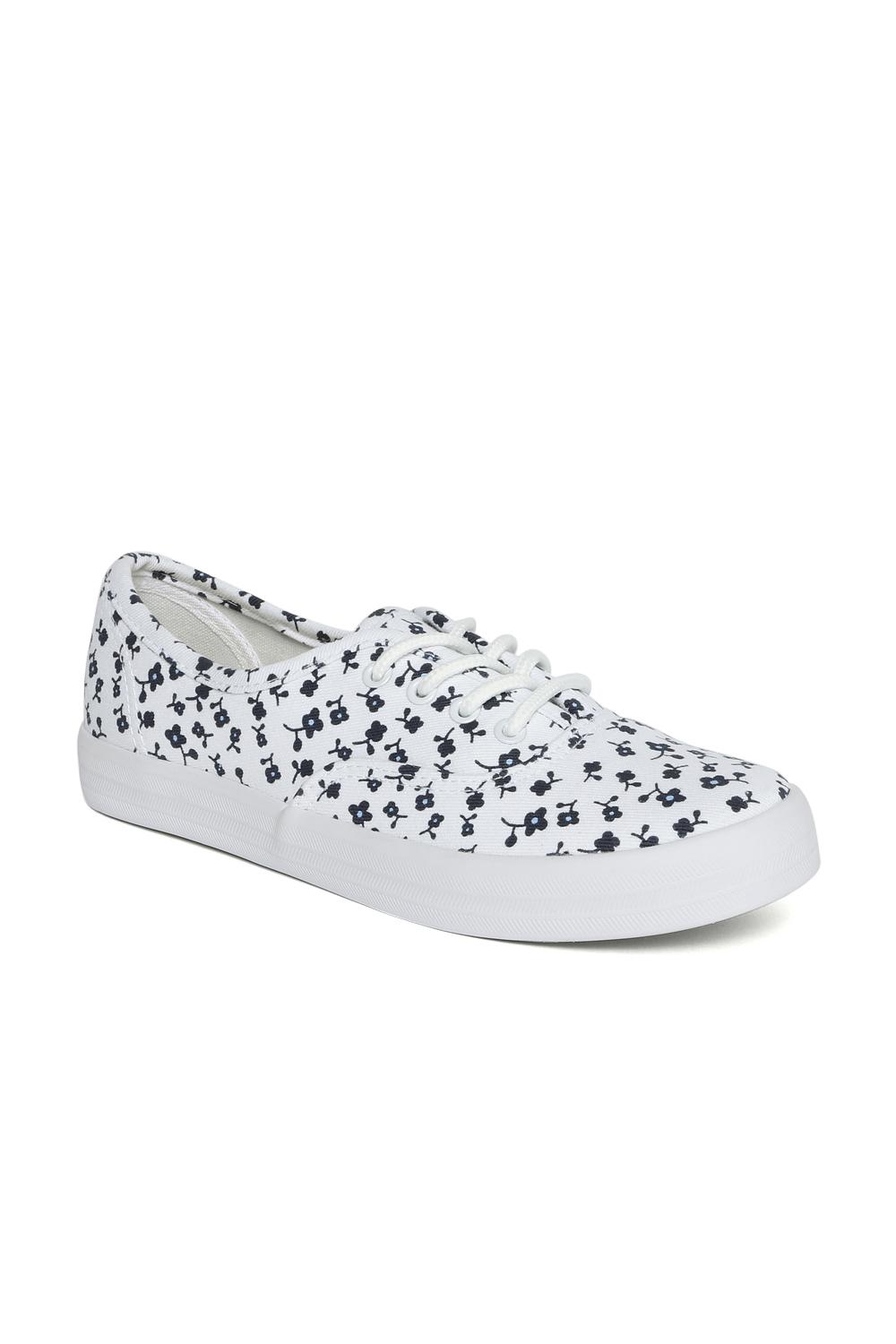 Coloured Printed Lace Up Canvas Shoes