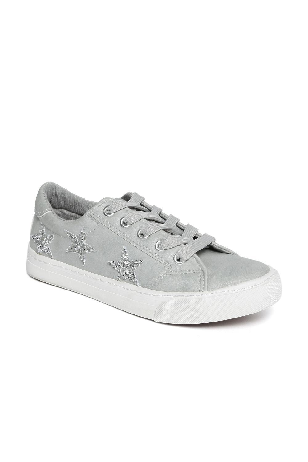 Forever Glam Women Grey Coloured Lace