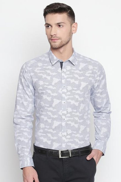 5cbe398105d16 Richard Parker Shirts, Pantaloons Blue Shirt for Men at Pantaloons.com