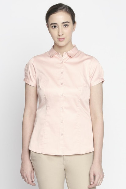 959c6844d6c8ff Annabelle Shirts & Blouses, Solid Short Sleeved Collared Shirt for ...