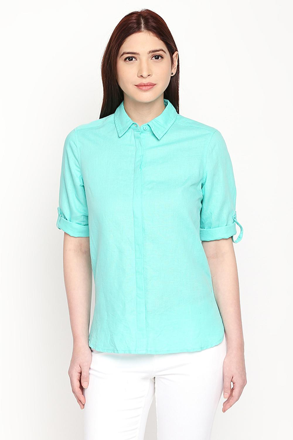 be8d3f44843 Pantaloons Shirts for Women- Buy Women Shirts, Blouses Online ...