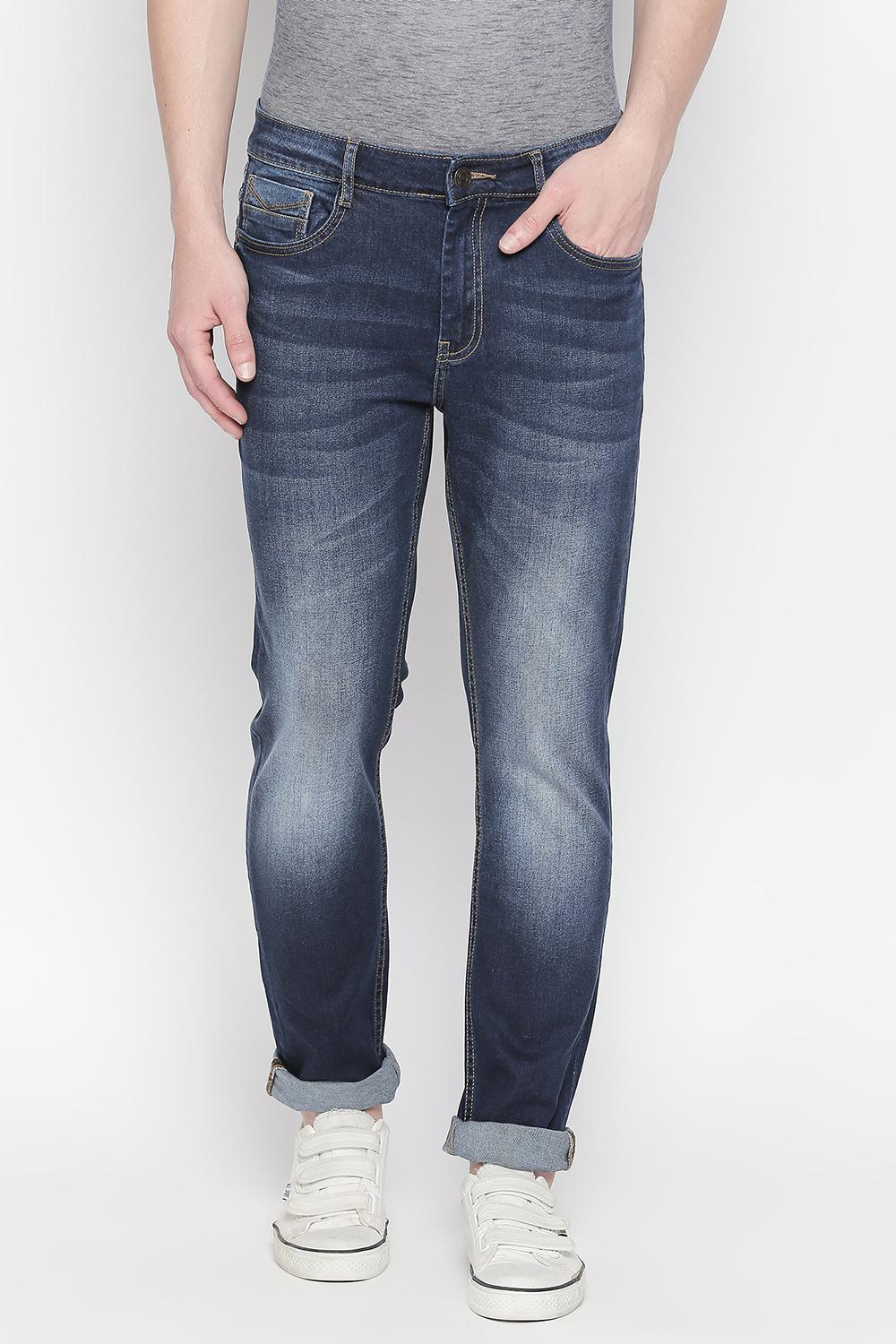 Bare Denim Jeans, Solid Regular Fit Jeans for Men at