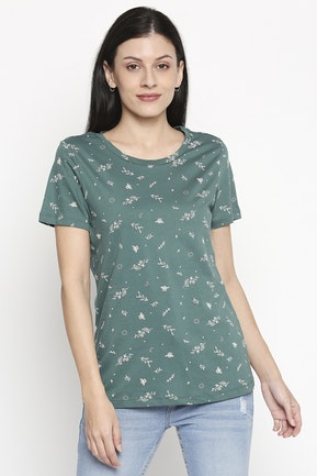 Green Printed T-Shirt