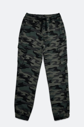 Olive Printed Trousers